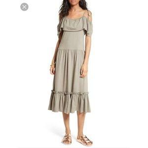 Rebecca Minkoff | Mojave Cold Shoulder Midi Dress